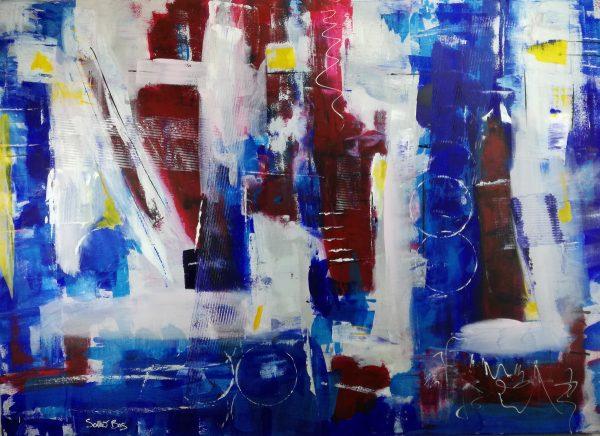 quadro astratto blu c371 600x436 - dipinto a mano astratto contemporaneo 140x100