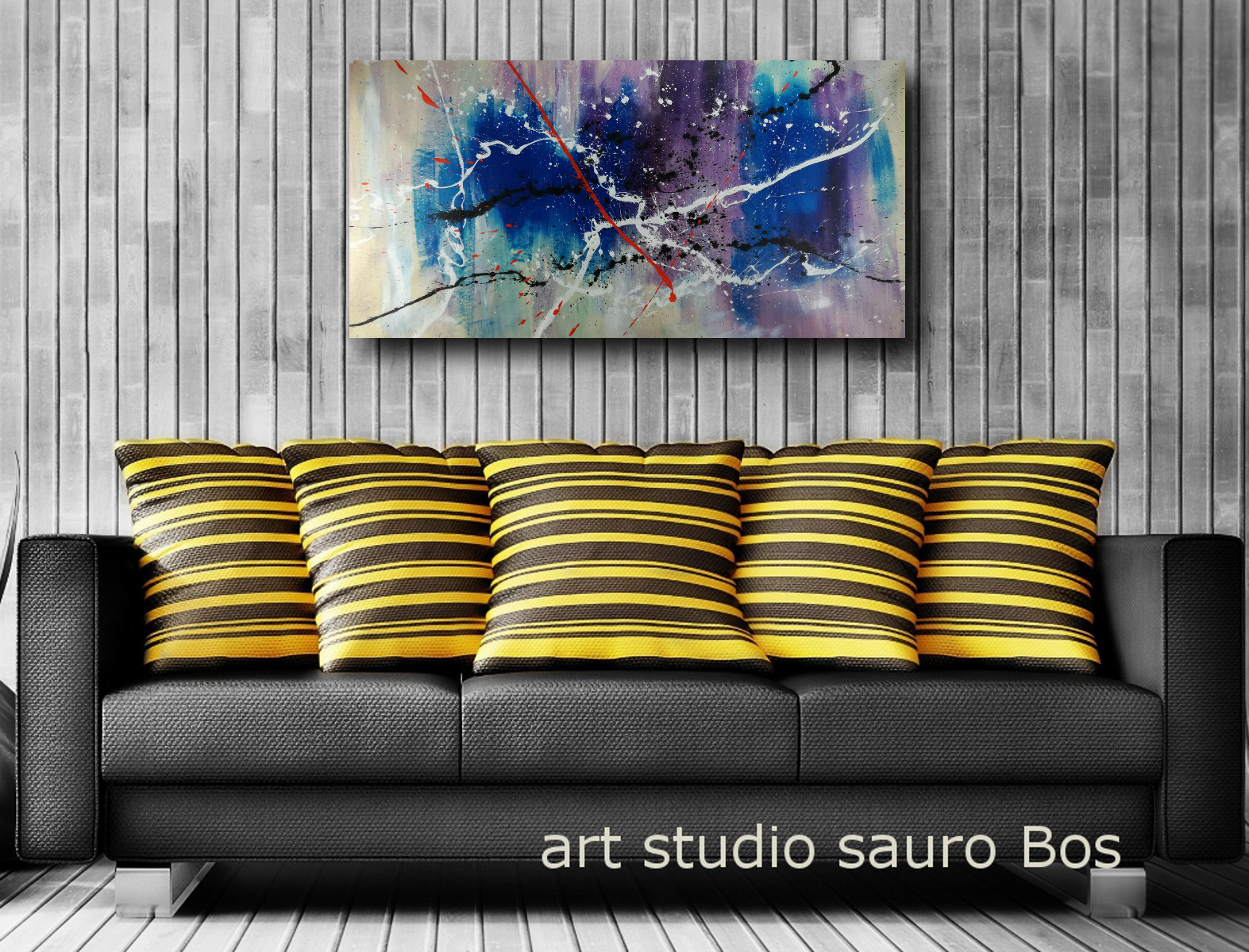 quadro astratto moderno su tela c374 - quadri moderni per arredamento soggiorno