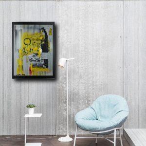 dipinto su tela astratto za008 300x300 - offerta quadro 30x40 con cornice