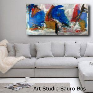 quadro grande su tela atratto ble 300x300 - Quadri Astratti Orizzontali