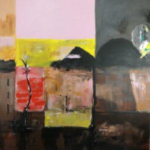 astratto dipinto a mano c392 300x300 - dipinto su tela con cornice  120x70