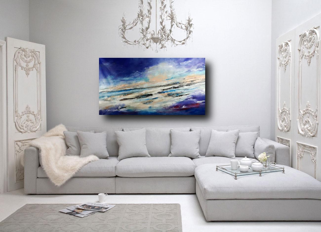 quadro paesaggio per soggiorno moderno 150x80 | sauro bos