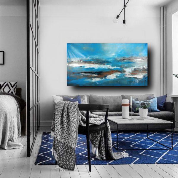 quadro-per-soggiorno-blu-c401