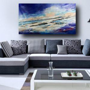 quadro per soggiorno moderno c397 300x300 - quadro fatto a mano su tela con cornice argento 120x70