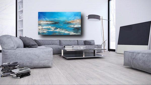 quadro soggiorno c400 600x338 - quadro per soggiorno paesaggio moderno 150x80