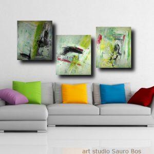 quadro soggiorno trittico a002 300x300 - quadro fatto a mano su tela con cornice argento 120x70