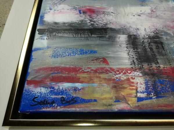 dettaglio dipinto con cornice