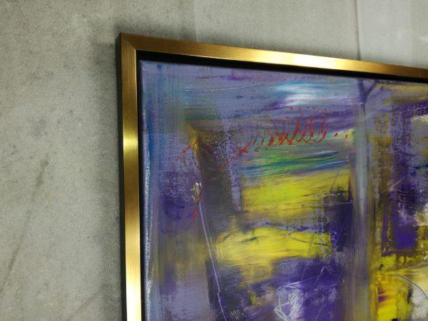 dettaglio cornice c412 600x450 - quadro su tela astratto 120x70 con cornice