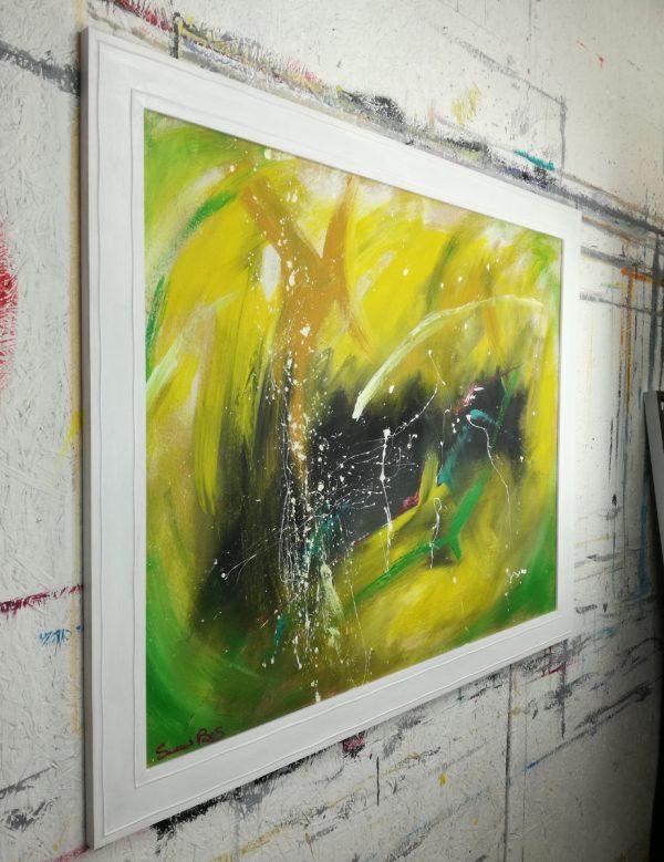 quadro astratto c413 dx 600x779 - quadro astratto moderno con cornice-100x70