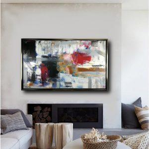 quadro per soggiorno c405 300x300 - dipinto su tela con cornice  120x70 per soggiorno