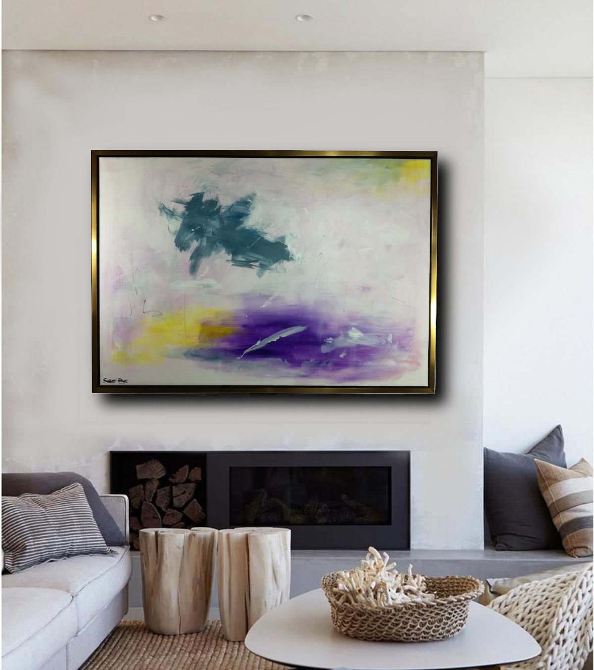 dipinto su tela con cornice 130x90