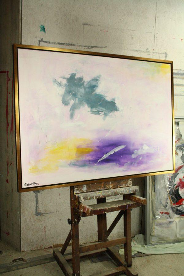 quadro su tela moderno con cornice c411 1 600x900 - dipinto su tela con cornice  130x90
