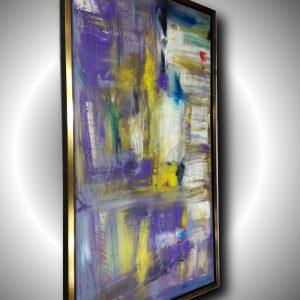 quadro verticale su cornice dorata c412 300x300 - Quadri Astratti Verticale