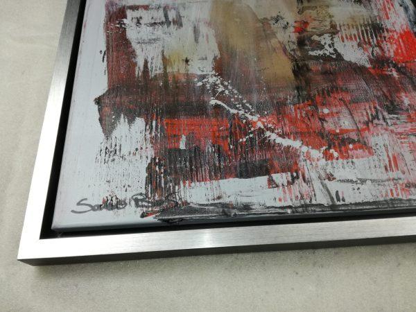 detatglio c432 600x450 - quadro dipinto a mano su tela con cornice argento 120x70