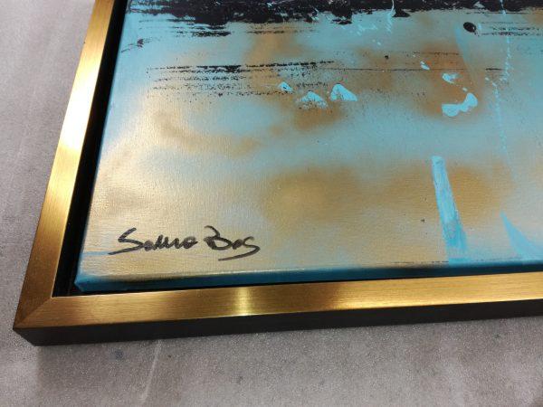 detatglio cornice c431 600x450 - quadro dipinto a mano su tela con cornice oro 120x70