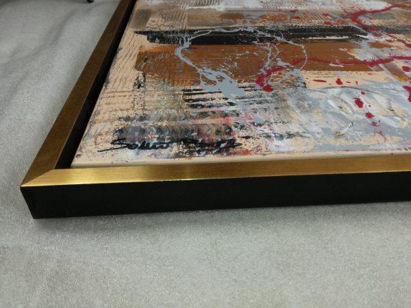 detatglio quadro c421 600x450 - quadro su tela con cornice  oro 120x70