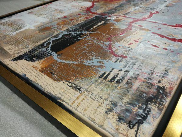 dettaglio c421 600x450 - quadro su tela con cornice  oro 120x70