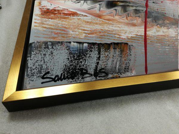 dettaglio c429 600x450 - dipinto su tela con cornice oro 120x70