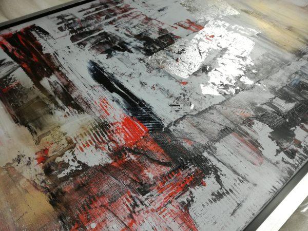 dettaglio dipinto c432 600x450 - quadro dipinto a mano su tela con cornice argento 120x70