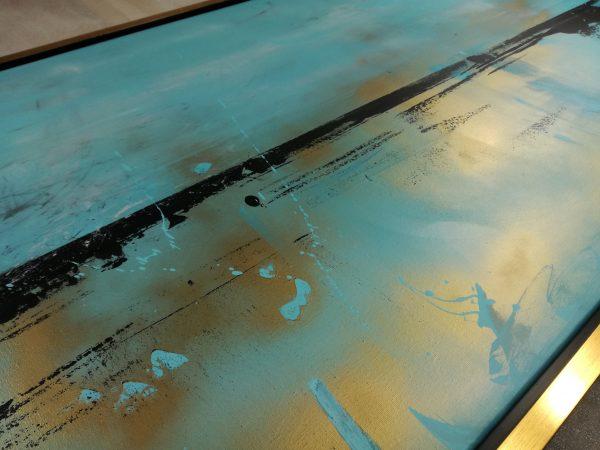 dettaglio pittura quadro c431 600x450 - quadro dipinto a mano su tela con cornice oro 120x70