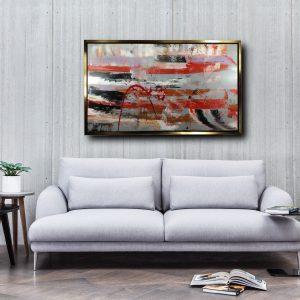 quadro soggiorno con cornice c429 300x300 - dipinto su tela 120x80 per soggiorno moderno