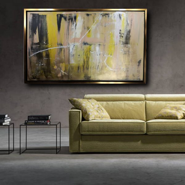 quadro su tela astratto c440 600x600 - quadro su tela astratto con cornice oro 120x70