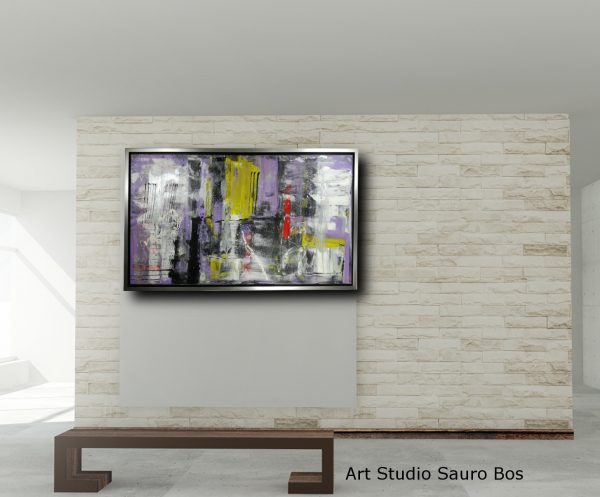 quadro su tela con cornice c426 600x497 - dipinto su tela con cornice argento 120x70