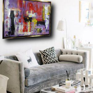 quadro su tela con cornice oro c427 300x300 - quadro astratto 150x80 per casa modena