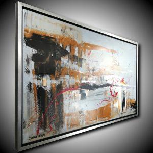 quadro su tela cornice argento c433 dx 300x300 - quadro astratto dipinto a mano su tela con cornice oro 120x70 (Copia)