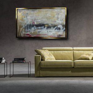 quadro c445 cornice oro 300x300 - quadro astratto 150x80 per casa modena