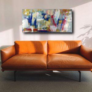quadro moddrno per soggiorno c452 300x300 - quadro per soggiorno astratto con cornice oro 120x70