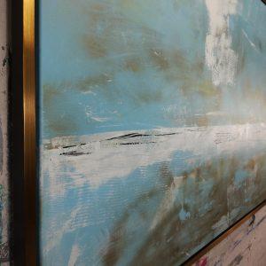 quadro astratto moderno dipinto a mano c471 300x300 - quadro  paesaggio su tela 70x70 giallo