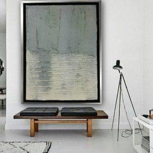quadro su tela materico grande dimensioni 300x300 - quadri astratti moderni colorati