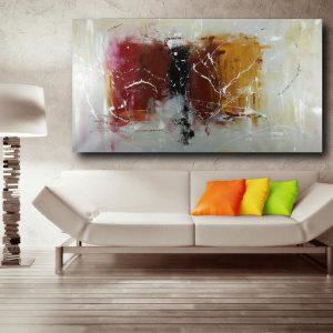 dipinto su tela astratto c482 300x300 - quadro fatto a mano su tela con cornice argento 120x70