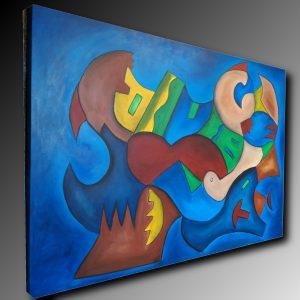 quadro su tella grandi dimensioni c487 300x300 - Quadri Astratti Orizzontali