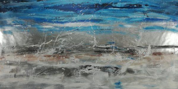 quadro-astratto-paesaggio-argentato-c491
