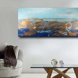 quadro dipinto a mano grande dimensioni c502 300x300 - Quadri Astratti Orizzontali