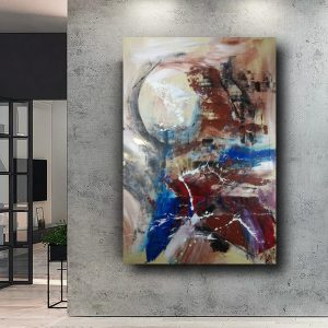 hand-painted on abstract canvas 120x80