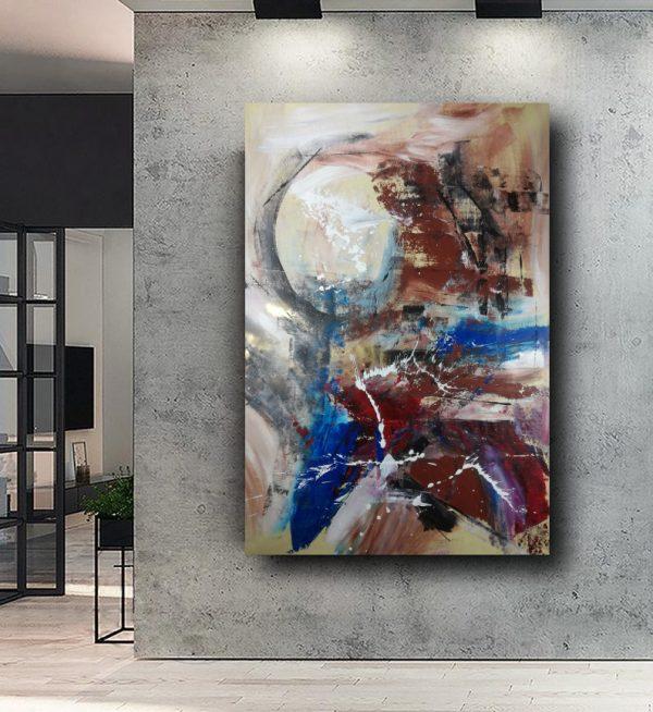 dipinto a mano su tela astratto 120x80