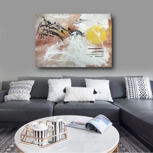 dipinto a mano per soggiorno su tela 120x80