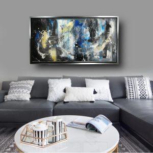 dipinto a mano su tela per soggiorno c559 300x300 - QUADRI ASTRATTI D'AUTORE