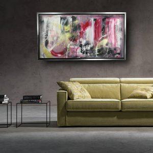 quadro con cornice argento c560 300x300 - QUADRI ASTRATTI D'AUTORE