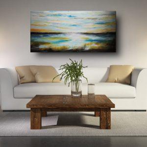 quadro fatto a mano su tela paesaggio c565 300x300 - QUADRI ASTRATTI D'AUTORE