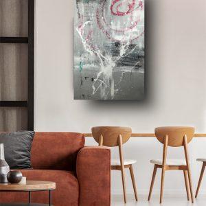 quadro verticale per salotto c571 300x300 - QUADRI ASTRATTI D'AUTORE